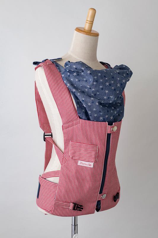 【メーカー直販】ママイトの抱っこひも ヒッコリー・レッド 日本製