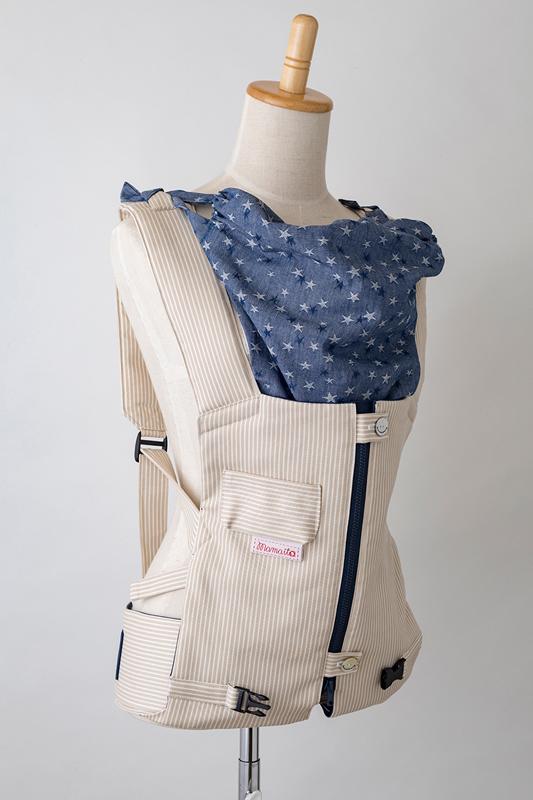 【メーカー直販】ママイトの抱っこひも ヒッコリー・ベージュ 日本製