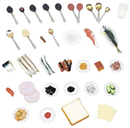 減塩食指導用モデル 規格:32品セット(磁石付) 24-4511-00