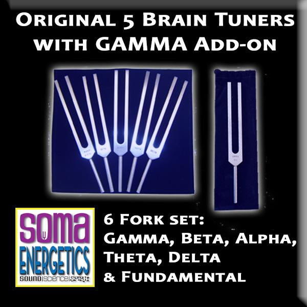 SomaEnergetics社 ブレインチューナー6セット 音叉 日本語説明書付き Brain Tuners: Set of 6 including GAMMA