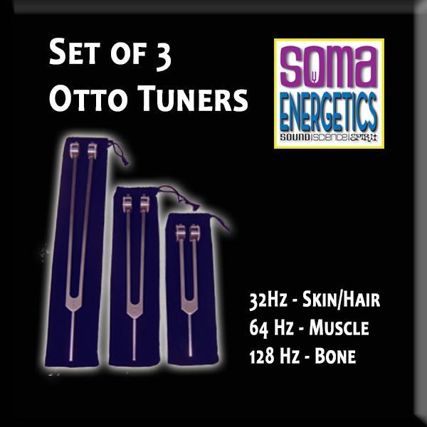 SomaEnergetics社 オットーチューナー治療用セット32 Hz, 64 Hz, 128 Hz. 音叉 日本語説明書付き Otto Tuners - Therapeutic Fork Set - 32 Hz, 64 Hz, 128 Hz.