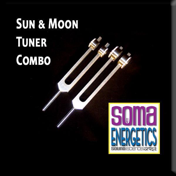 SomaEnergetics社 月と太陽のパワフルスピリチュアルセット 音叉 チューナー 日本語説明書付き Moon & Sun: A Powerful Spiritual Portal