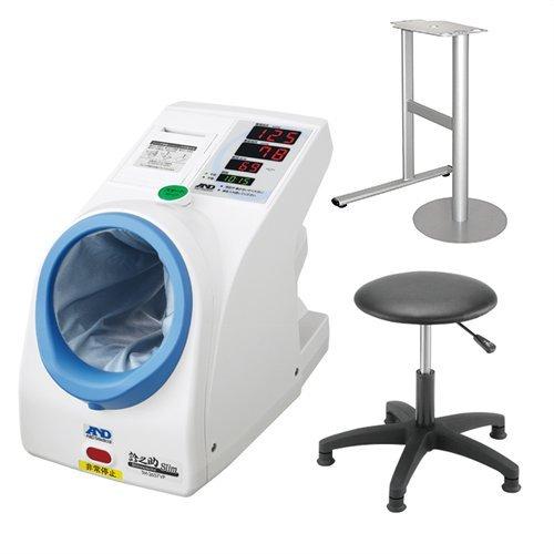 エーアンドデイ 全自動血圧計 TM-2657VP 専用架台 専用椅子(固定足) セット