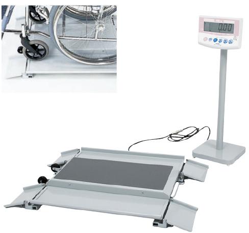 ヤマト 車いす用体重計(検定品) DP-7101PW-K 23-6887-00
