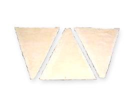 冷凍パン生地 業務用 ISM クロワッサン板 三角 1ケース 43g×130 _
