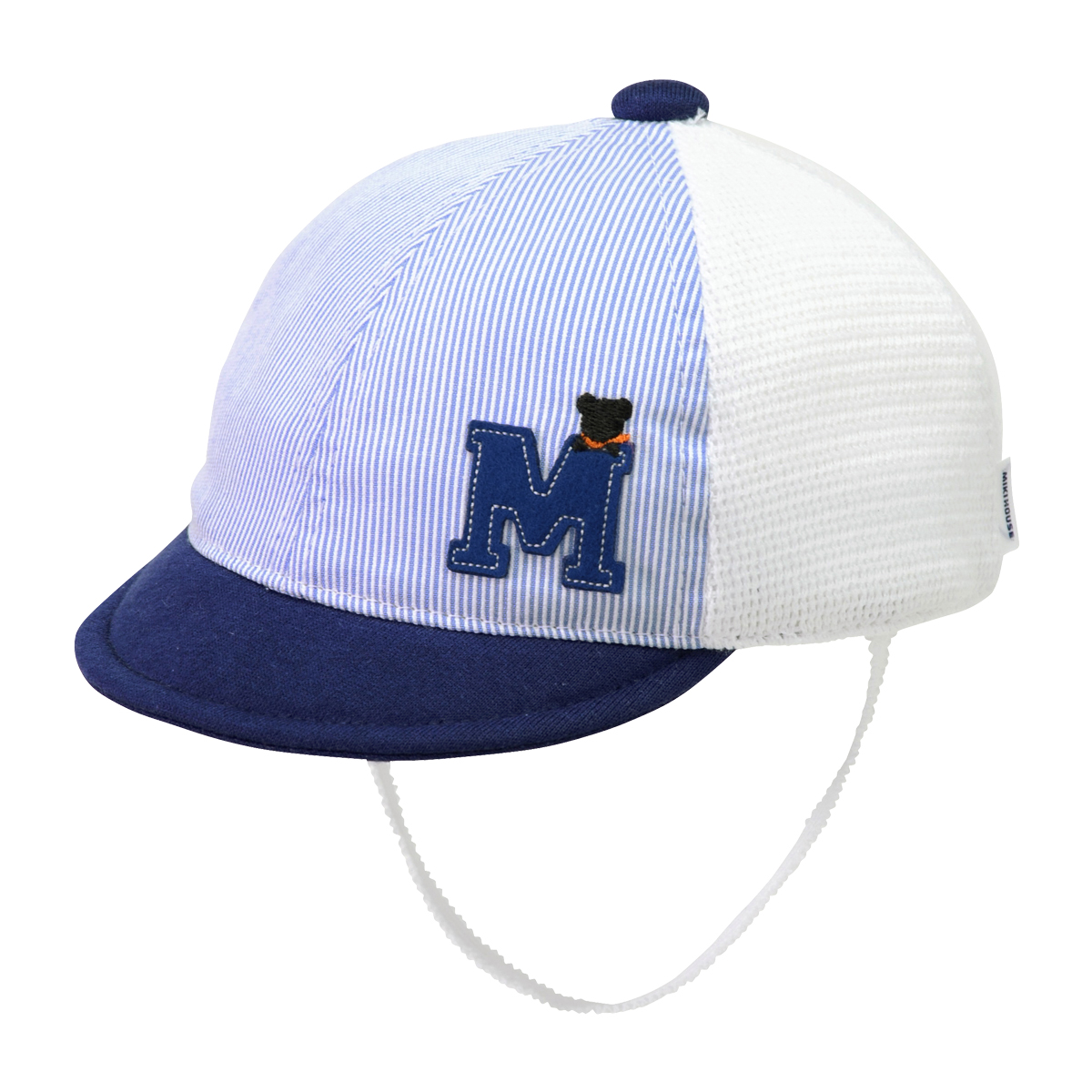 Mワッペン付メッシュキャップ(帽子)〈SS-S(40cm-48cm)〉ミキハウス mikihouse