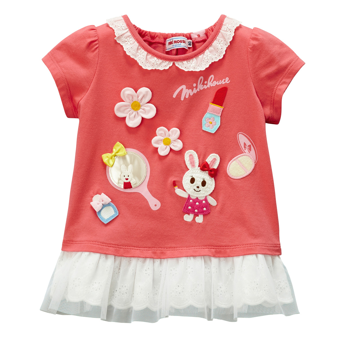 【30%OFF】【ミキハウス】メーキャップ♪うさこ半袖Tシャツ(80.90cm)