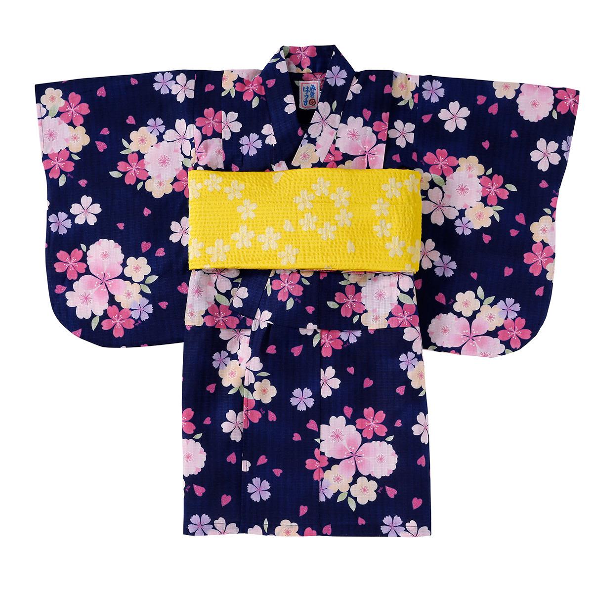 【ミキハウス mikihouse】さくら柄浴衣(女児用)(140cm)