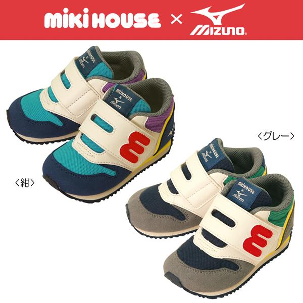 ★Miki房屋&美津濃★協作m標識☆第二嬰幼鞋(13cm~15.5cm)