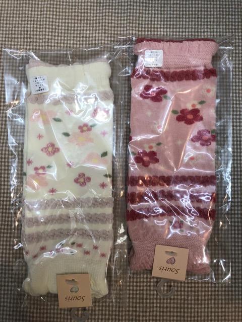 30%OFF スーリー Souris とっても可愛い 卓抜 日本製 お花柄 サイズ:SS.S 価格交渉OK送料無料 レッグウォーマー