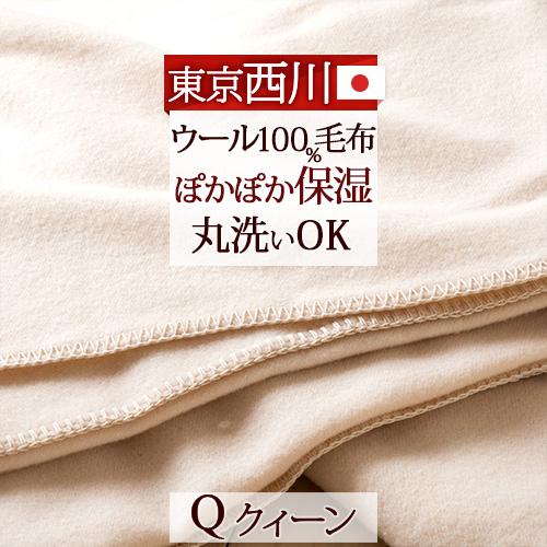 特別ポイント10倍 6/4 8:59迄 毛布 クィーン 東京西川 西川産業 ウール毛布 FA3213 暖か あったか あたたか ふんわり ブランケット クイーンサイズ 日本製
