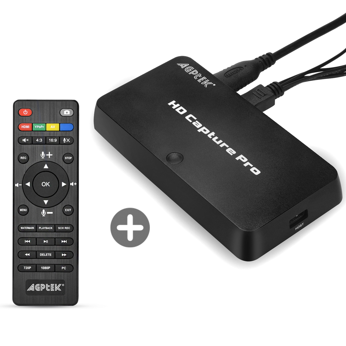 AGPtek 1080P HD Video Capture Live Streaming Video w/ Game Capture for Nintendo Switch PS4 and PS3, XBOX ONE,play back videos /schedule recording with the remote control.