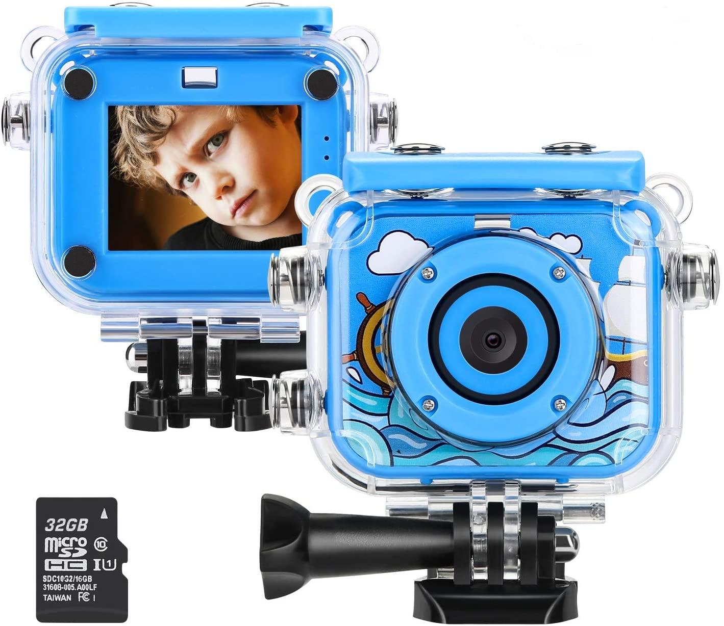 子供用デジタルカメラ トイカメラ 子供用カメラ 32GB容量SDカード Blumway 500万画像 激安挑戦中 40%OFFの激安セール 自撮り 日本語説明書付き 多機能 ブルー 子供プレゼント 2インチ