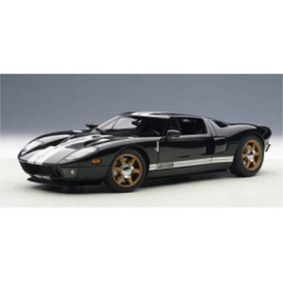 【お取り寄せ品】フォード GT ブラック シルバーストライプ 1/18 73023