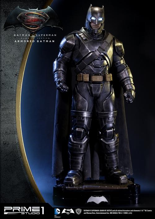 【在庫品】【プライム1スタジオ】 【銀行振込・クレジットカード支払い】【送料無料】HDミュージアムマスターライン/ バットマン vs スーパーマン ジャスティスの誕生: アーマード・バットマン 1/2 ポリストーン スタチュー HDMMDC-06