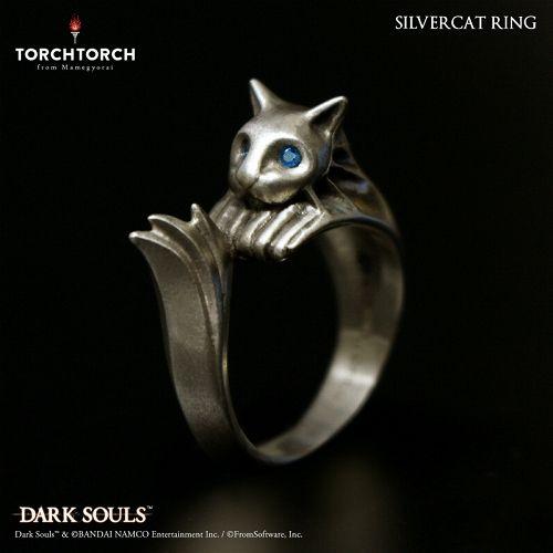 【予約商品】【TORCH TORCH】 ダークソウル × TORCH TORCH/ リングコレクション: 銀猫の指輪 メンズL/21号