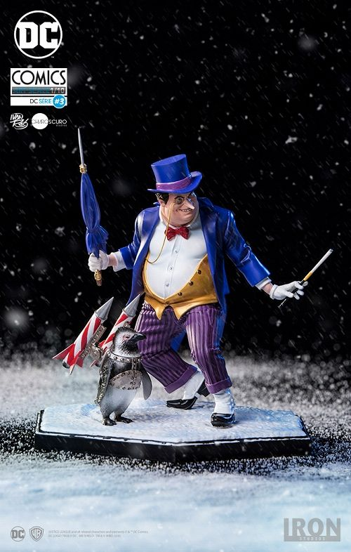【在庫品】【アイアンスタジオ】 DCコミックス/ ペンギン デラックス 1/10 アートスケール スタチュー