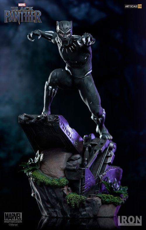 【在庫品】【アイアンスタジオ】 ブラックパンサー/ ブラックパンサー 1/10 バトルジオラマシリーズ アートスケール スタチュー