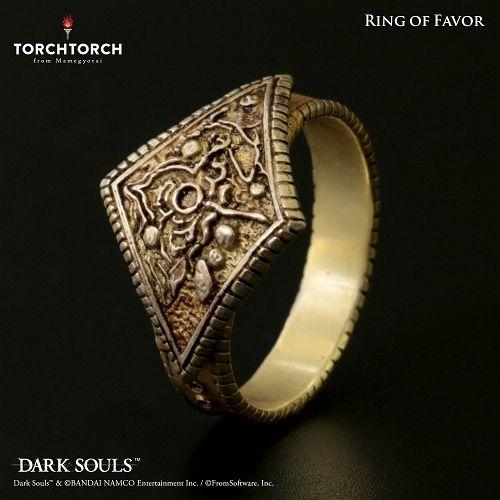 【在庫品】【TORCH TORCH】 ダークソウル × TORCHTORCH/ リングコレクション: 寵愛の指輪 【メンズモデル/17号】
