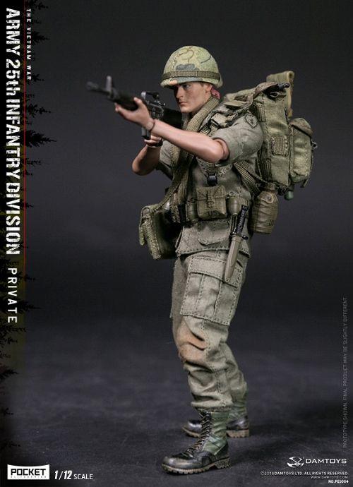 【予約商品】【DAMトイ】 ポケットエリートシリーズ/ アメリカ軍 第25歩兵師団 ベトナム戦争 1/12 アクションフィギュア PES004