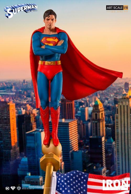 【予約商品】【アイアンスタジオ】 スーパーマン/ スーパーマン 1/10 DX アートスケール スタチュー