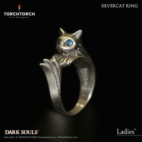 【在庫品】【TORCH TORCH】 ダークソウル × TORCH TORCH/ リングコレクション: 銀猫の指輪 レディース/11号