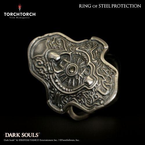 【在庫品】【TORCH TORCH】 ダークソウル × TORCH TORCH/ リングコレクション: 鉄の加護の指輪 メンズXS/15号