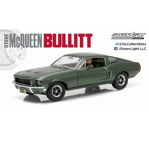 【予約商品】【グリーンライト】 ブリット 1968/ 1968 フォード マスタング GT ファーストバック in スティーブ・マックイーン 1/18 12938