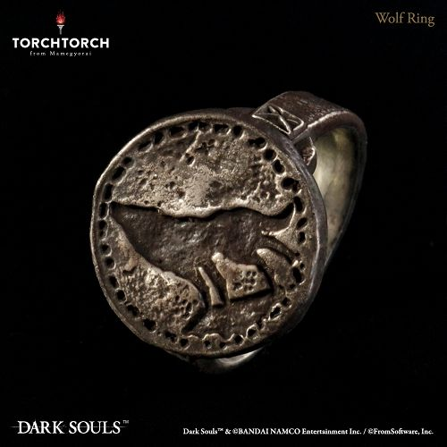 【予約商品】【TORCH TORCH】 ダークソウル × TORCH TORCH/ リングコレクション: 狼の指輪 メンズモデル 23号