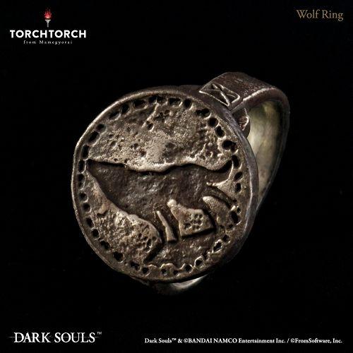 【予約商品】【TORCH TORCH】 ダークソウル × TORCH TORCH/ リングコレクション: 狼の指輪 メンズモデル 21号