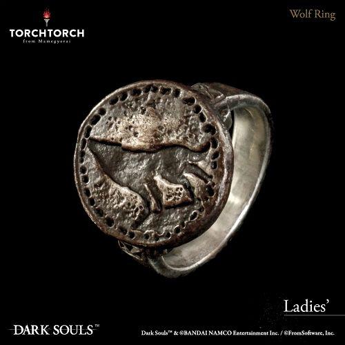 【予約商品】【TORCH TORCH】 ダークソウル × TORCH TORCH/ リングコレクション: 狼の指輪 レディースモデル 11号