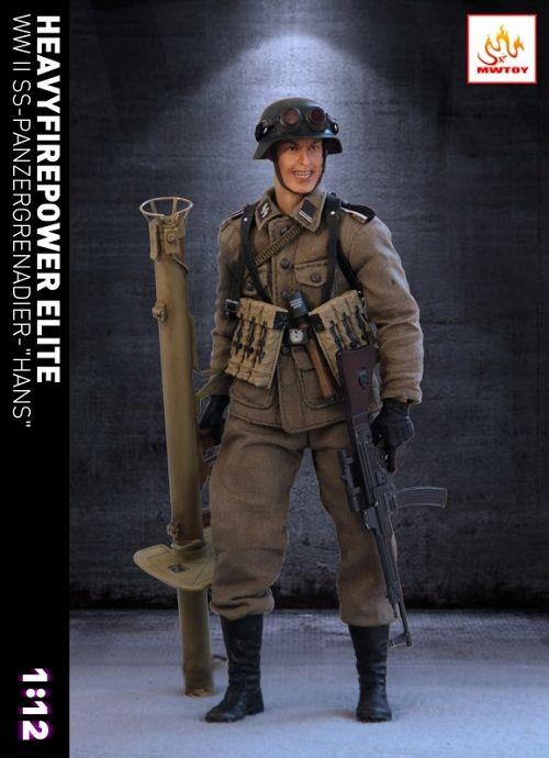 【予約商品】【MWトイズ】 WW.II SS パンツァーグレネーダー ヘヴィファイヤーパワーエリート ハンス 1/12 アクションフィギュア MW001