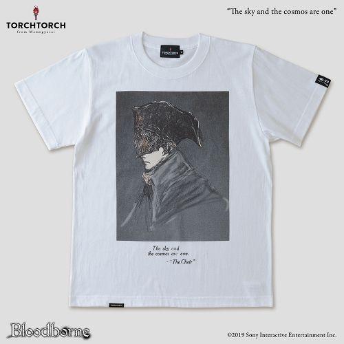 【在庫品】【TORCH TORCH】 Bloodborne × TORCH TORCH/ Tシャツコレクション: 宇宙は空にある (ホワイト XXLサイズ)