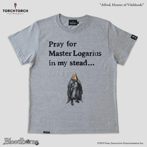 【在庫品】【TORCH TORCH】 Bloodborne × TORCH TORCH/ Tシャツコレクション: 血族狩りアルフレート (ヘザーグレー Mサイズ)