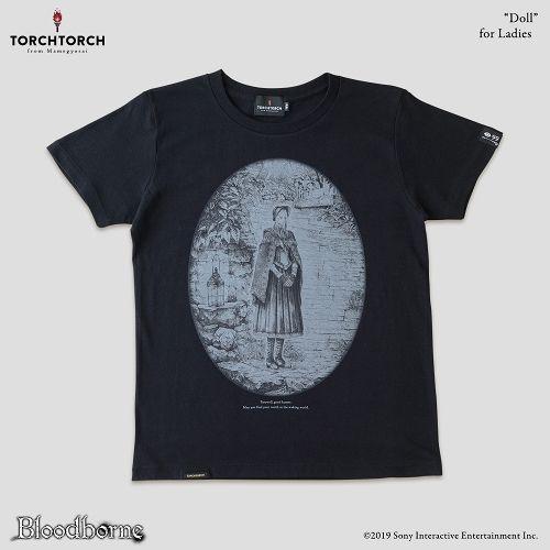 在庫品 TORCH Bloodborne × ふるさと割 Tシャツコレクション: 公式サイト Lサイズ ブラック レディース 人形