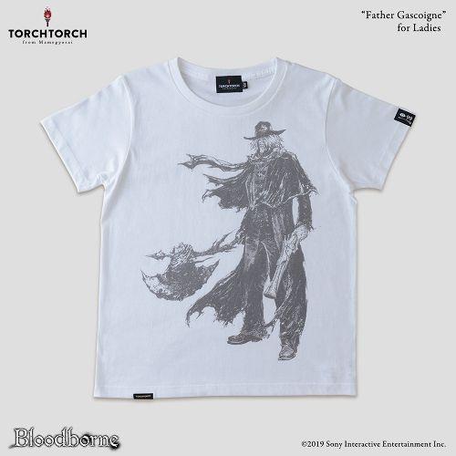 【在庫品】【TORCH TORCH】 Bloodborne × TORCH TORCH/ Tシャツコレクション: 神父ガスコイン (ホワイト レディース Lサイズ)