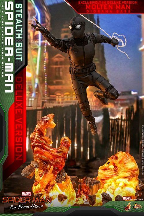 【予約商品】【ホットトイズ】 【お一人様3点限り】スパイダーマン ファー・フロム・ホーム/ ムービー・マスターピース 1/6 フィギュア: スパイダーマン ステルススーツ デラックス ver