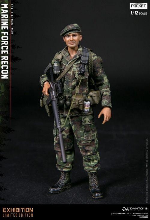 【予約商品】【DAMトイ】 ポケットエリートシリーズ/ アメリカ海軍 フォース リーコン in ベトナム 1/12 アクションフィギュア PES009