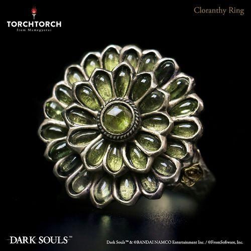 【予約商品】【TORCH TORCH】 ダークソウル × TORCH TORCH/ リングコレクション: 緑花の指輪 19号