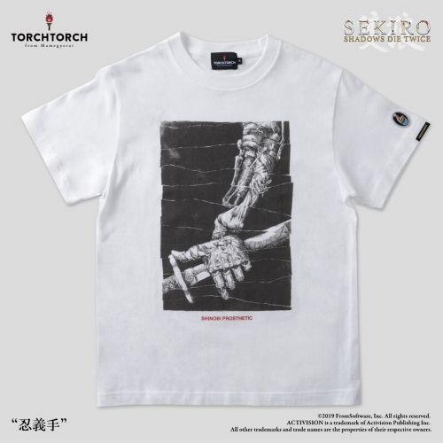 在庫品 TORCH SEKIRO: SHADOWS 新登場 DIE TWICE × 宅送 白 XLサイズ Tシャツコレクション: 忍義手