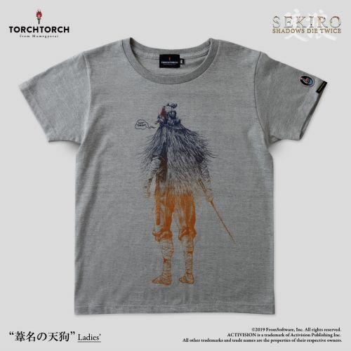 在庫品 TORCH SEKIRO: SHADOWS DIE 定番キャンバス 人気商品 TWICE 杢灰 Tシャツコレクション: Lサイズ × 葦名の天狗 レディース