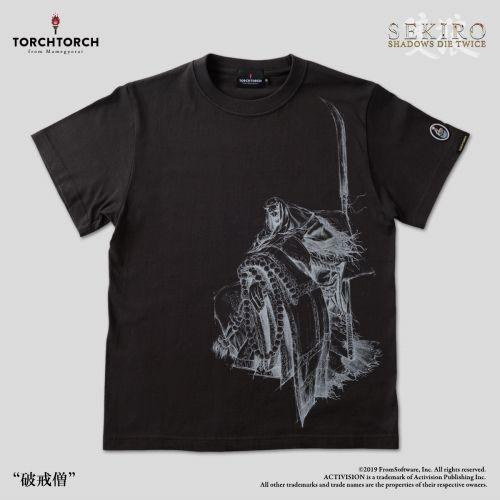 在庫品 倉庫 TORCH SEKIRO: SHADOWS DIE 人気急上昇 TWICE Lサイズ Tシャツコレクション: 墨 破戒僧 ×
