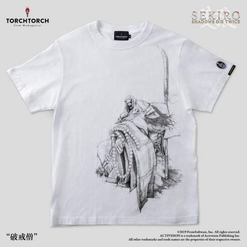 在庫品 日本最大級の品揃え TORCH SEKIRO: 人気 SHADOWS DIE TWICE Tシャツコレクション: 破戒僧 白 × Lサイズ