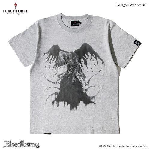 お洒落 在庫品 TORCH Bloodborne × Tシャツコレクション: XLサイズ メルゴーの乳母 買い物 ヘザーグレー