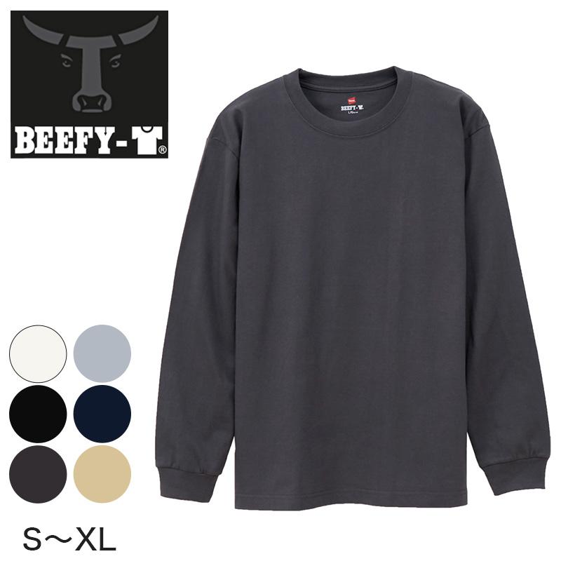 a1996707e18 Hanes BEEFY-T men's crew neck long sleeve t-shirt (S-XL) (men's adult Hanes  Beefy Hardy rugged tough crew neck shirt underwear tops movement of men)
