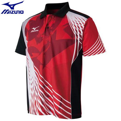 卓球 ウエア ゲームシャツ ミズノ MIZUNO 62 安い 激安 プチプラ 高品質 レッド×ブラック 82JA600662 ドライサイエンスゲームシャツ 当店一番人気 ユニセックス