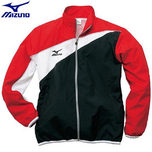 スイムウエア ミズノ MIZUNO トレーニングクロスシャツ(96)ブラック×レッド 85FQ10096 水泳用品