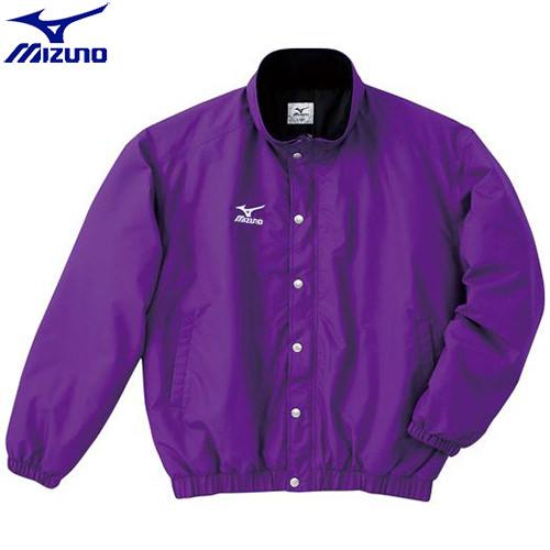陸上競技 ウエア ミズノ MIZUNO 中綿ウォーマーキルトシャツ(フード収納式)(68)パープル A60JF96268 ウォームアップ