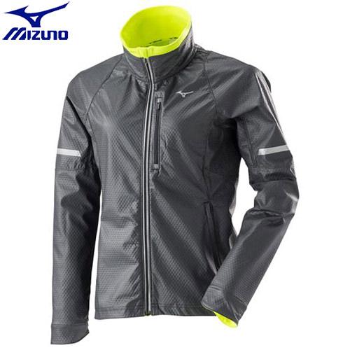 ランニングウエア ミズノ MIZUNO ブレスサーモウィンドブレーカーシャツ[レディース](09)ブラック J2ME770009