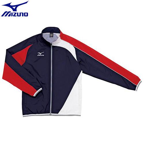 スイムウエア ミズノ MIZUNO トレーニングクロス(シャツ)(86)ネイビー×レッド N2JC501086 水泳用品